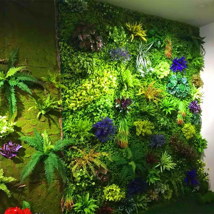 40*60 Artificial Green Plant Background Wall For Home Company Building Wall Decoration Decorative Material plant backdrop