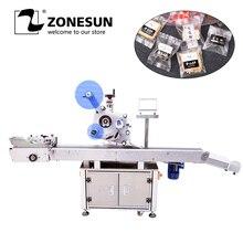 ZONESUN XL-T832 Automatische Aufkleber Adhesive Flugzeug B Tag Lebensmittel Papier Buch Große Kunststoff Film Flache Verpackung Kennzeichnung Maschine