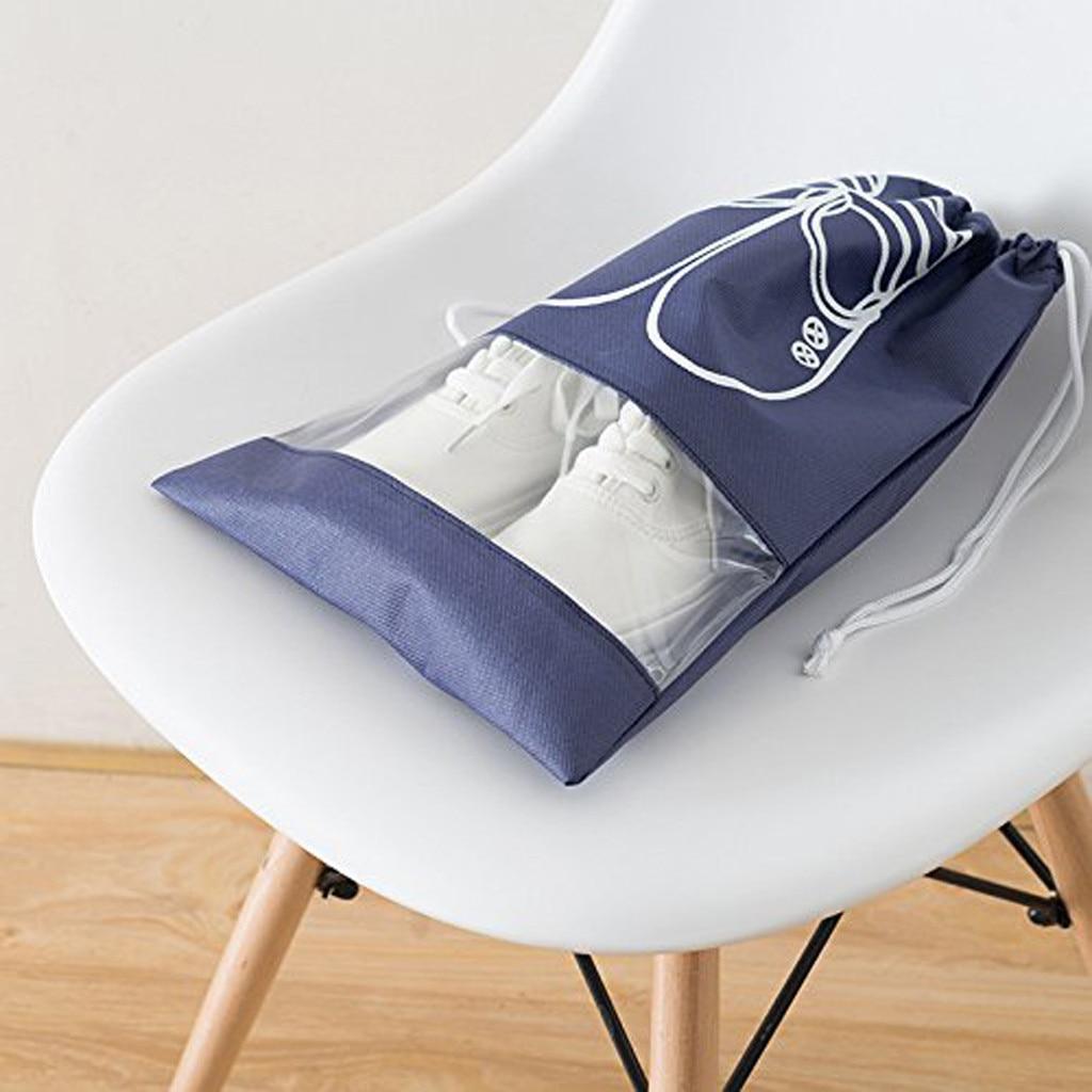 ISHOWTIENDA 5 uds cinturón más grueso de viaje bolsa para almacenamiento de zapatos bolso con correas bolsa de almacenamiento portátil no tejida accesorios de viaje