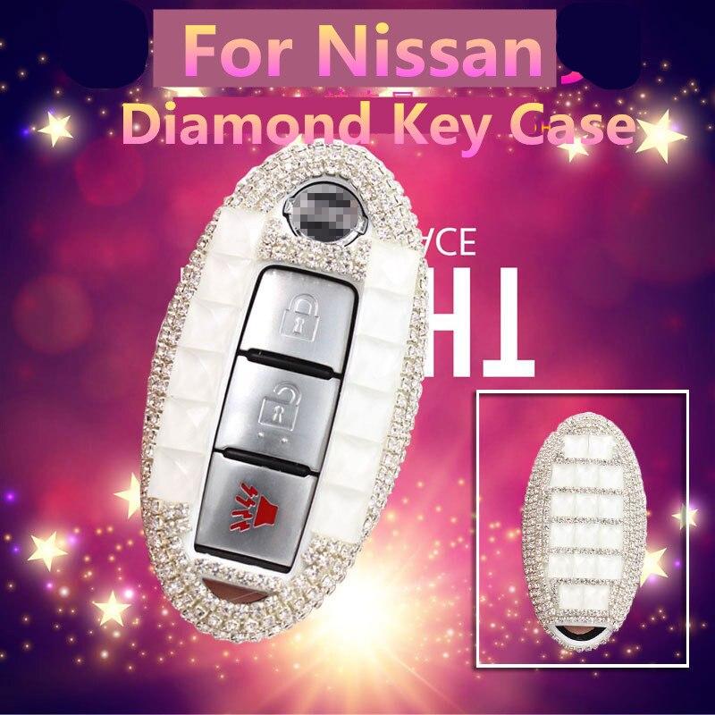 Luxury Diamond Shell Car Remote Key Cover Case For Nissan Qashqai J10 J11 X-Trail t31t32 kicks Tiida Pathfinder Murano Note Juke