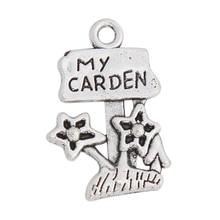 RAINXTAR Fashion Alloy My Garden Charms Flowers Kids Jewelry Charms 15*22mm 20pcs AAC1790