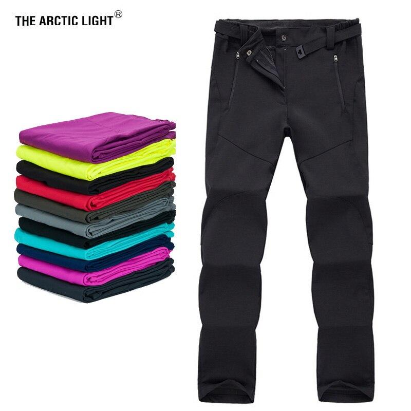 Непромокаемые флисовые лыжные штаны для катания на лыжах и сноуборде