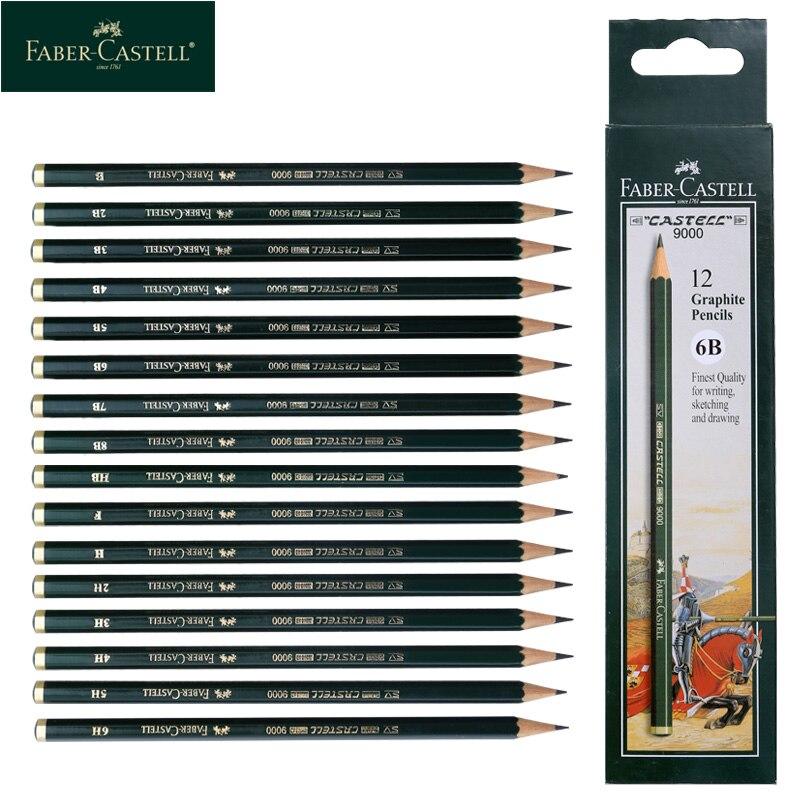 Faber Castell 9000 профессиональные карандаши для рисования набросок рисунок затенение