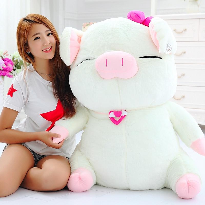 Мягкая игрушка большая 80 см мультяшная свинка кукла, мягкая плюшевая игрушка, подушка, украшение дома, подарок на день рождения h2846