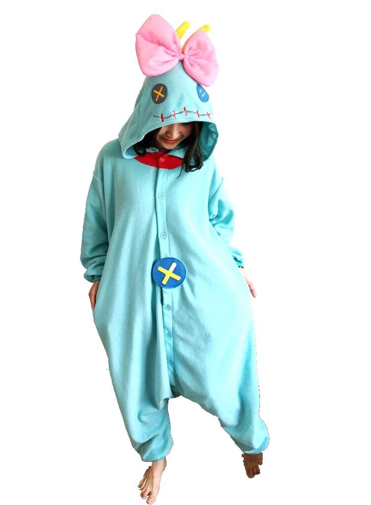 Nuevo traje de Cosplay de animales invierno cálido adulto precioso lilo Stitch pijama de scrump pijamas onesies unisex dibujos animados Sleepsuit