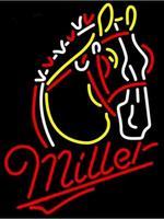 Custom Miller Lite Horse Glass Neon Light Sign Beer Bar