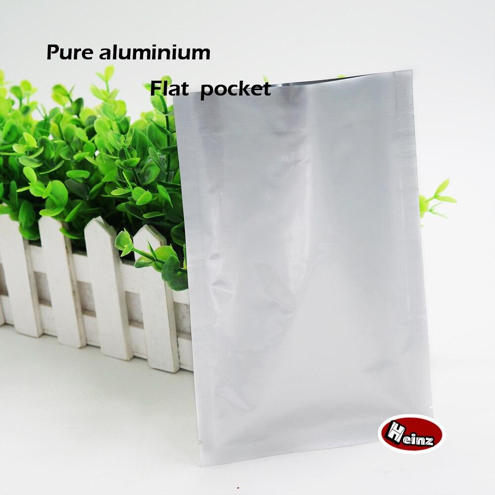 6*9 cm alumínio Puro bolsos lisos, recipiente hermético sacos de vácuo térmico, armazenamento de alimentos, embalagens de cosméticos. ponto 100/pacote