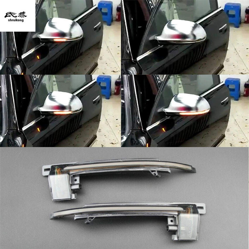 2 unids/lote dinámica agua intermitente indicador intermitente para espejo retrovisor para 2009-2011 AUDI A6 C6 4F2 accesorios de coche