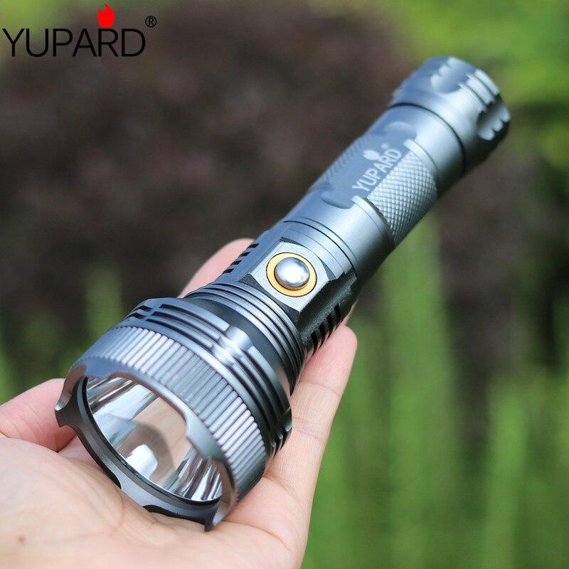 Yupard high bright XM-L T6 linterna LED linterna de camping 18650 26650 lámpara recargable al aire libre deporte pesca Luz