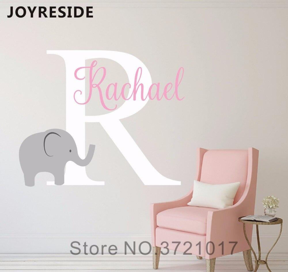 Pegatina para paredes del hogar con elefante con letras grandes, decoración bonita para habitación de niños, decoración de pared de amor, dulce diseño M127