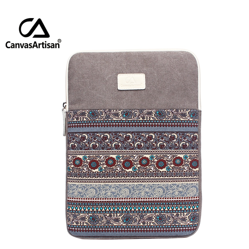 Canvasartisan Quality Canvas Laptop Sleeve Bags 11 12 13 Inch Soft Notebook Briefcase 13.3 Surface Pro 3 2021 Top