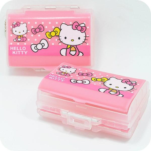 Kitty Cat 7 Grid Folding Vitamin Medicine Drug Pill Box.Makeup Jewelry Debris Storage Boxes Sorter Case Container.Organizer