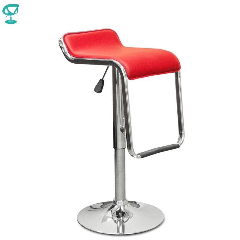 94538 barneo N-41 couro cozinha café da manhã barra fezes giratória barra cadeira vermelha frete grátis na rússia