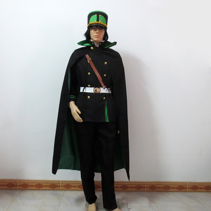 Серафим конца Yuichiro Hyakuya Косплей Owari no Seraph костюм вампира включает шляпу + парик + перчатки
