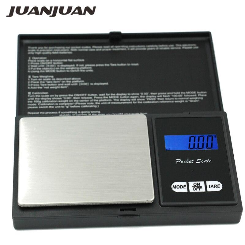 100 unids/lote 200g 0,01g Mini balanza Digital inteligente Balanza de joyería Balanza de bolsillo gramos pantalla LCD Balanza de cocina con 7 unidades 15% de descuento