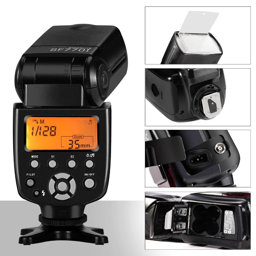 SF770I Flash Speedlite per Canon Nikon Pentax Olympus Panasonic Fotocamere Digitali Fotocamere Digitali con Standard di flash della fotocamera