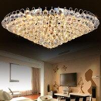 NEW Led Luxury Hotel ceiling light Bedroom Round K9 Crystal lamp Living room Restaurant Kitchen Aisle Balcony