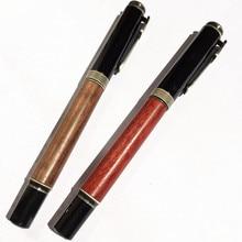 مكبس عالي الجودة محول قلم حبر روزوود والنحاس قلم هدية قلم تسجيل القلم النحاس النقي القلم للسفر والمكتب والأعمال التجارية
