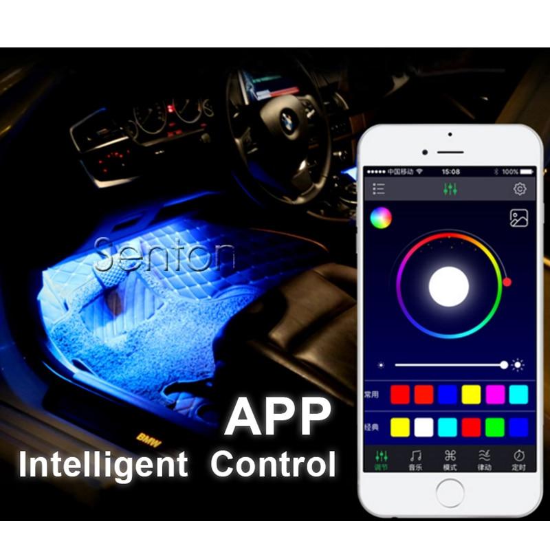 Interior del coche lámpara de neón para Android iOS Control de APP para Mazda 3 6 CX-5 CX-7 Audi A5 TT A1 A4 B6 B8 B7 A3 A6 C5 C6 Q5 Accesorios