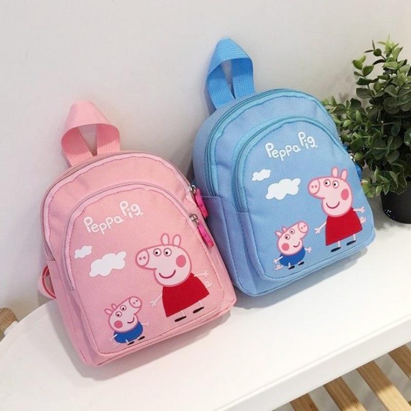 Рюкзак с героями мультфильмов Peppa Pig, высококачественный нейлоновый рюкзак, сумка с героями мультфильмов, школьная сумка, детский подарок