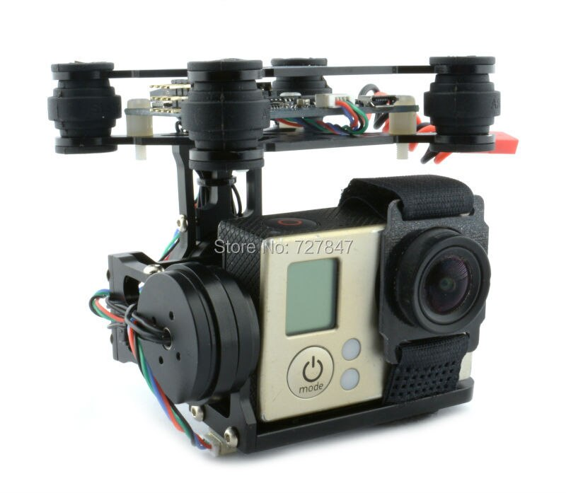 Montaje de cámara cardán sin escobillas de 2 ejes versión RTF con controlador BGC 3,12/Storm32 para cámara Gopro 3 4 SJ4000 Xiaomi Xiaoyi