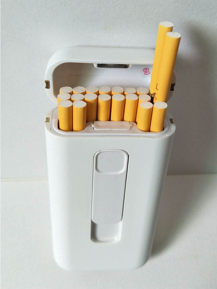 20 pcs  USB lighter cigarette case  for 20PCS 100mm long 5mm diameter cigarettes pack