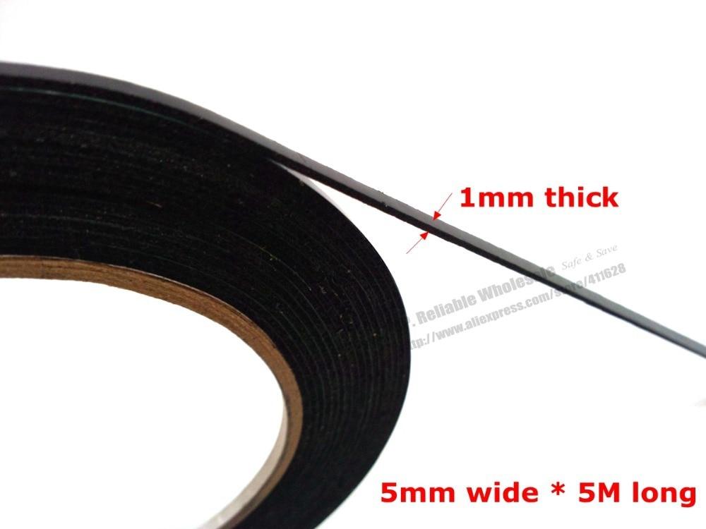 (1 мм толщиной), 5 мм шириной RP для ремонта смартфона Пыленепроницаемая черная губка, двухсторонняя клейкая поролоновая лента, автоматическа...