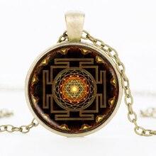 Буддийская Женская бижутерия, ожерелье, буддийская Sri-янтра, подвеска мандалы из Sri Yantra, Sacred Геометрическая бижутерия 2017 HZ1
