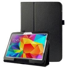 Étui en cuir Litchi Texture avec support pour samsung Galaxy Tab 4 10.1/T530
