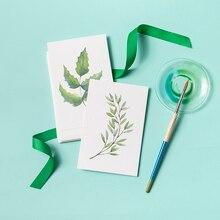 Geïmporteerde aquarel papier leeg DIY postcard kwaliteit handgeschilderde kaart originele plain kleur rijst-wit aquarel karton