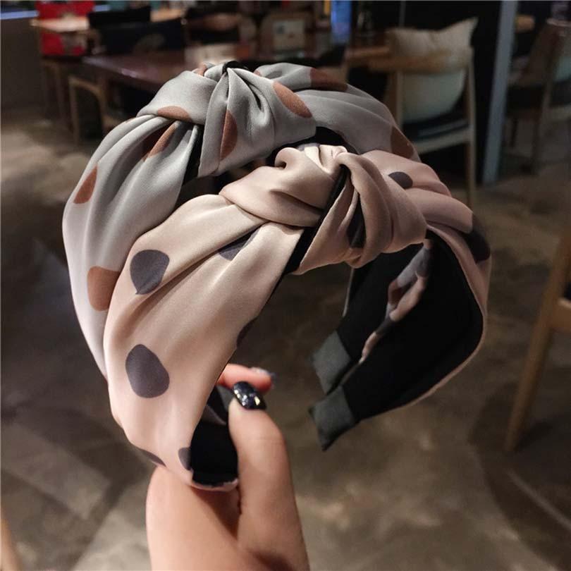 Bandeau de cheveux croisé pour femmes   Bandeau de cheveux noué à larges bords, style rétro Wave, bandeau Simple pour femmes, à la mode