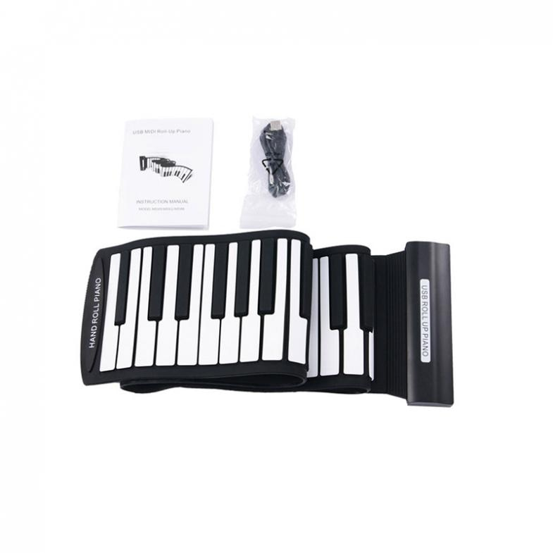 88 Keys Professional High Stability MIDI Keyboard Fold  Electronic organ Superior Roll Up Piano with Soft Keys MD88S enlarge