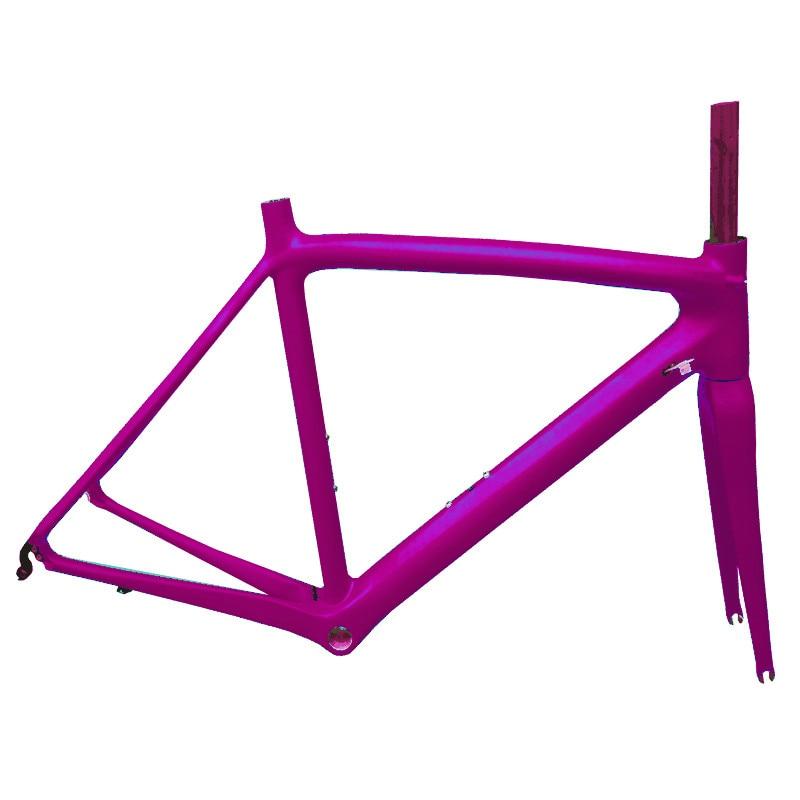 EARRELL stock ultraligero cuadro de bicicleta de carretera de fibra de carbono DI2 Marco de bicicleta de color libre personalizado con tija de sillín frok headset