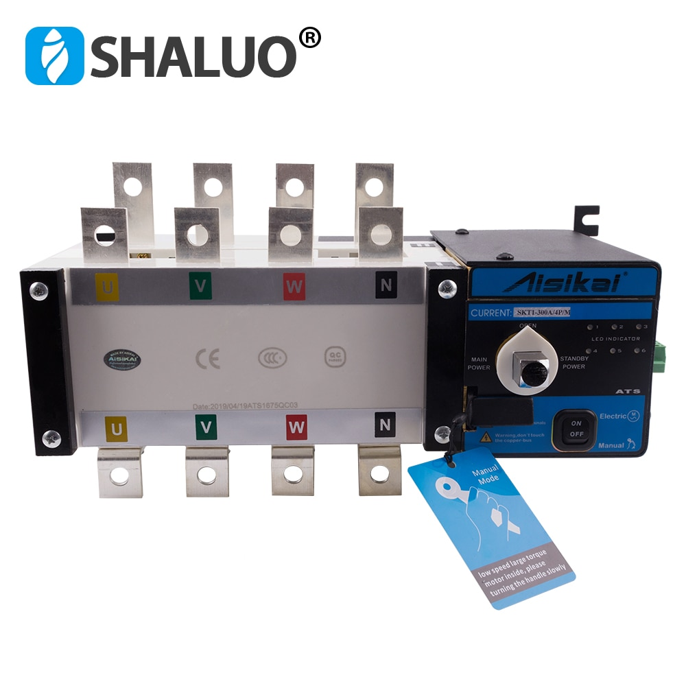 250A 300A 4P ATS controller dual power automatic transfer switch parts 220V 380V electric diesel generator panel board 3phase
