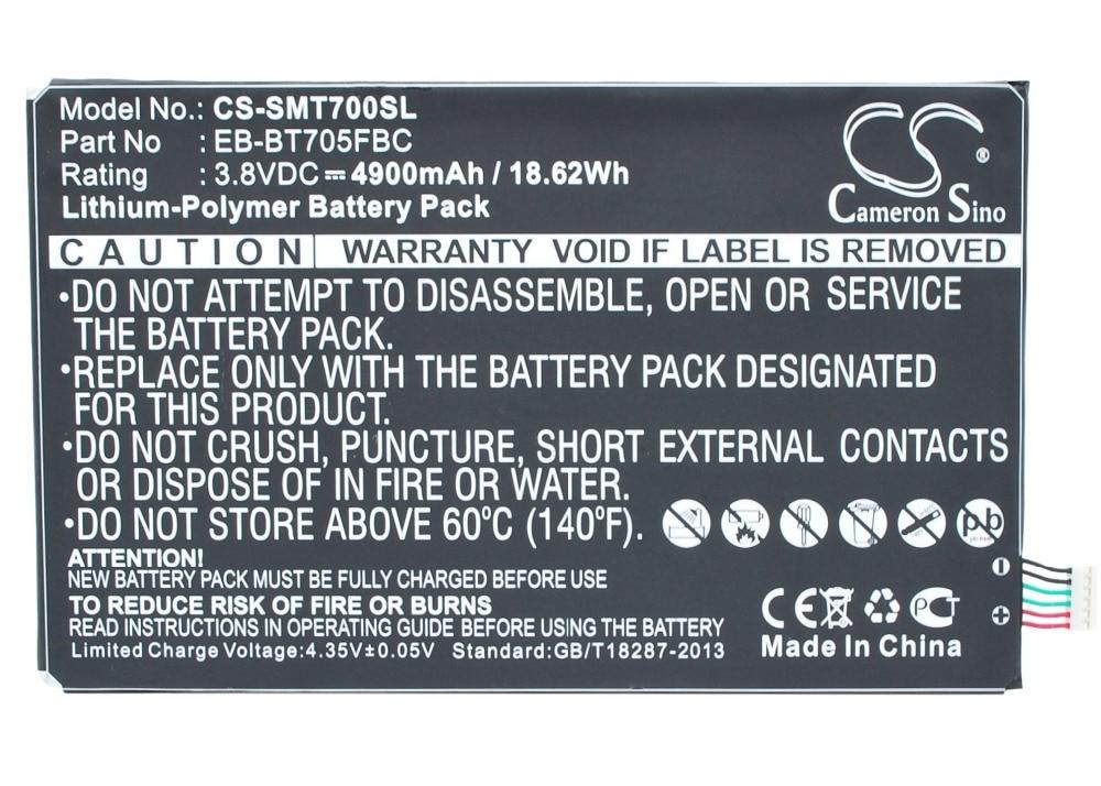 Batería EB-BT705FBC Cameron Sino para Samsung SM-T700, SM-T705, SM-T705C, SM-T705D, SM-T705M, T705Y, T707, T707A, T707D, T707V