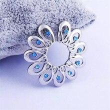 1 par nuevo anillo de pezón falso con Clip azul punk sin perforación de acero inoxidable Escudo de pezón joyería corporal para mujeres