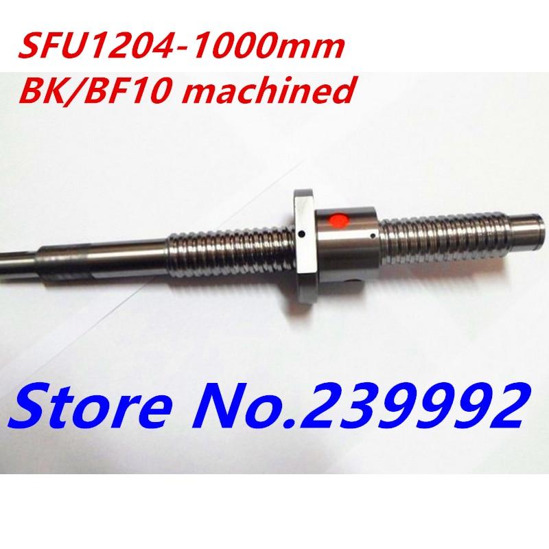 1204 كرة لولبية SFU1204 1000 مللي متر مع صامولة واحدة لأجزاء CNC BK10 BF10
