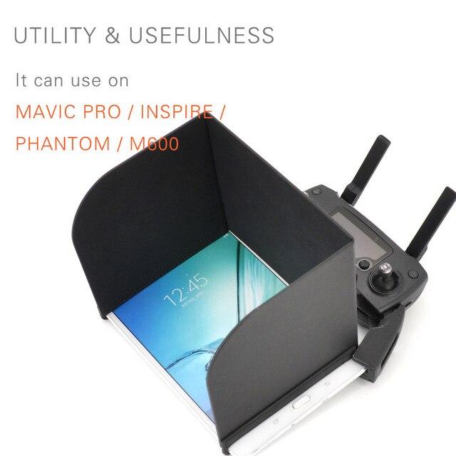 PGYTECH DJI Mavic pro aire/Tablet almohadillas Sun Hood sombra para DJI Spark/Phantom 3/4 pro Remote capucha para iPads aire para Samsung