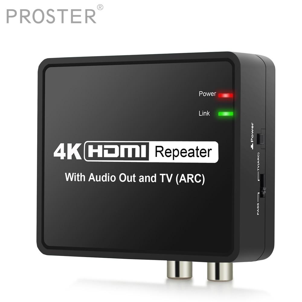 Proster для 4K x 2K HDMI к HDMI конвертер ARC Функция HDMI аудио сплиттер адаптер оптический TOSLINK SPDIF + L/R стерео выход