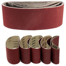 "5x Sanding Belts 75*457mm Mixed Grade 60 80 120 240 Grit 3*18"" Abrasive Sanding Belts Power Tool Sander Grinder Accessories"
