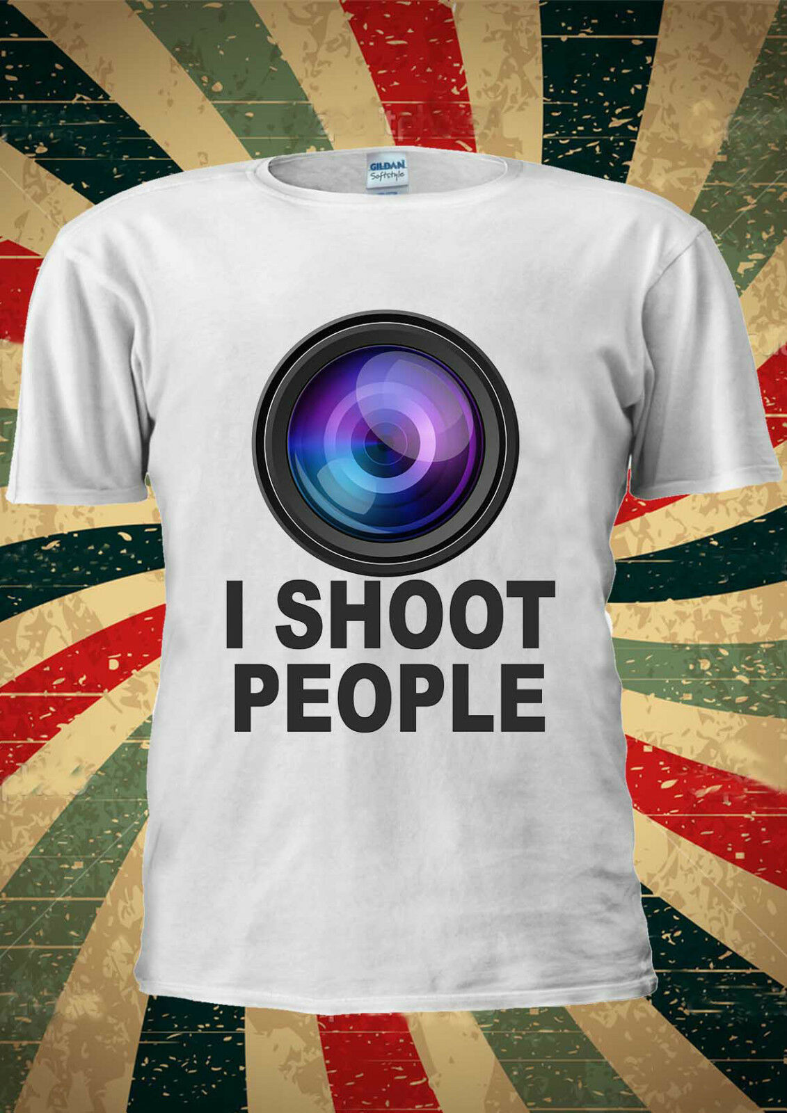 Yo le disparo a la gente de la foto de la Cámara Tumblr camiseta chaleco hombres mujeres Unisex 1902