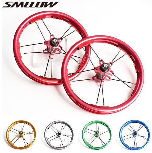 12 дюймовые колеса для детей, Балансирующий велосипед 85 95 мм, Детская горка, анодированный цветной двухслойный алюминиевый велосипед Allolly