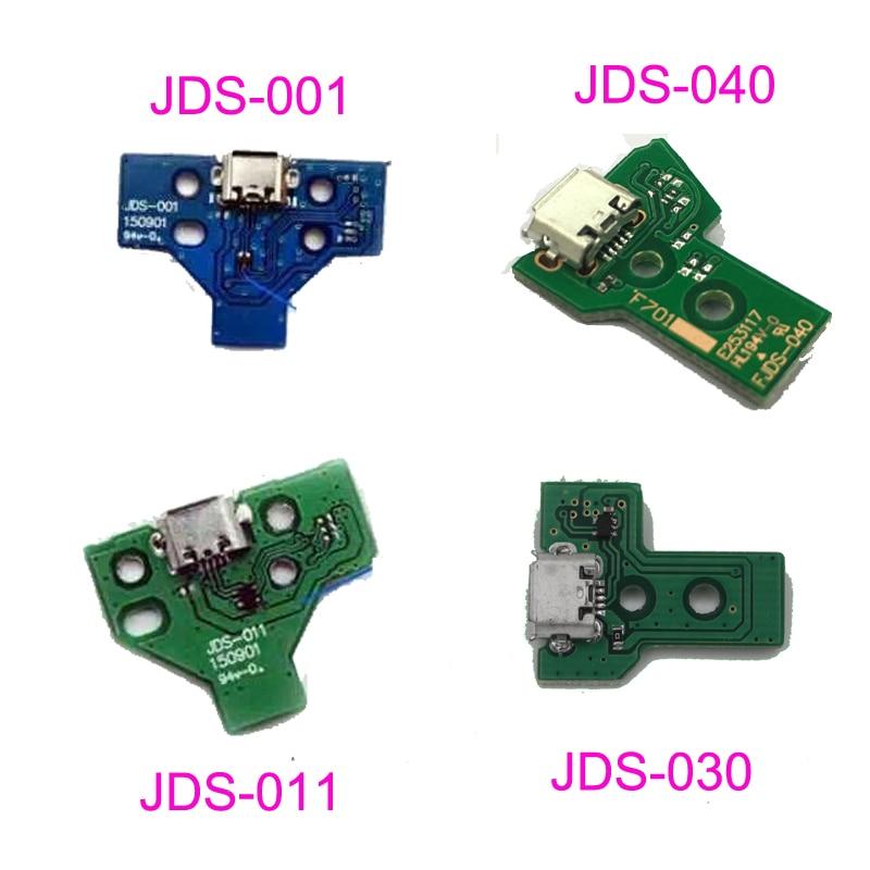 Pcs Para Dualshock 10 4 PS4 Pro Slim Controlador de Carregamento usb Porta de Soquete da Placa de Circuito JDS 030 040 001 011 JDS-055