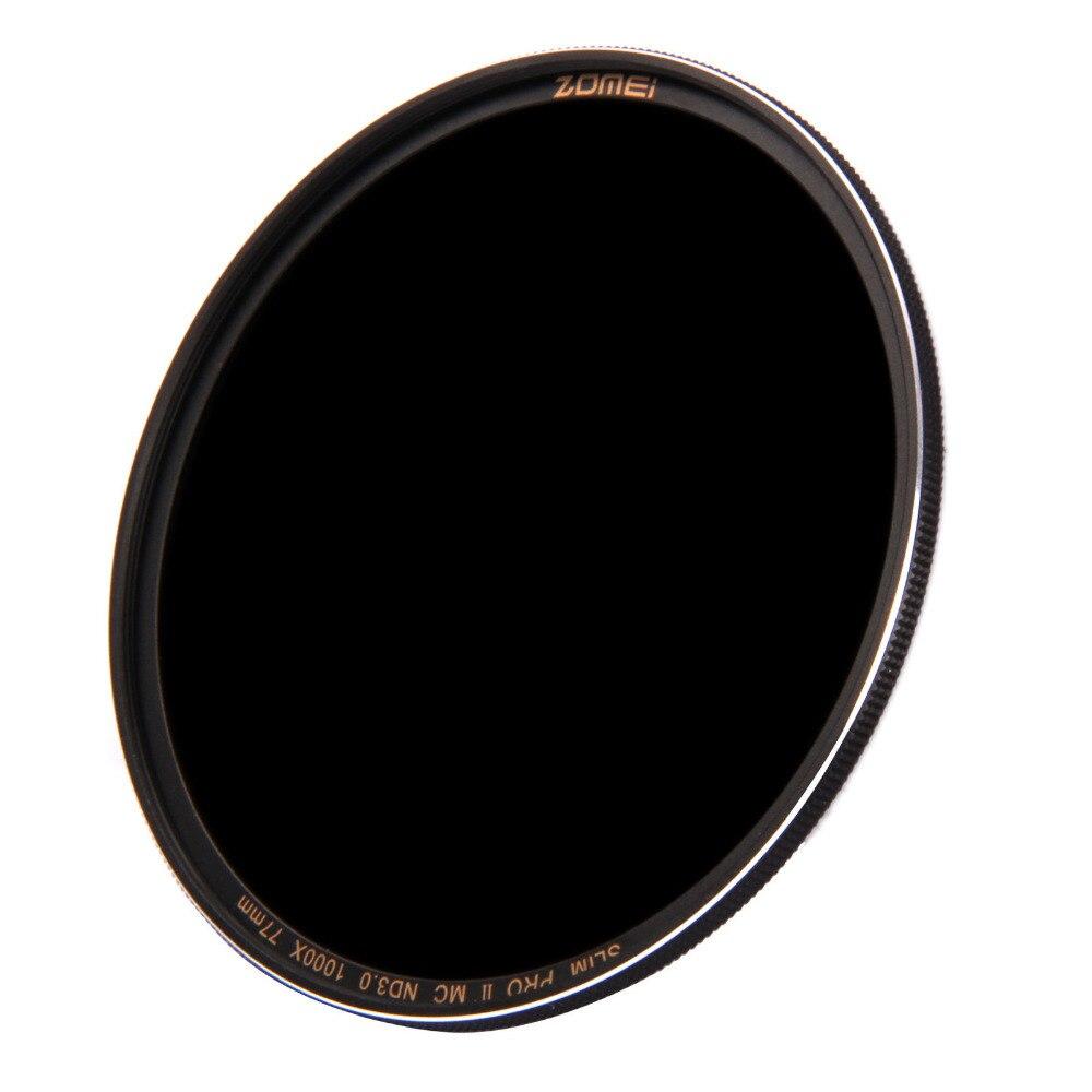 ZOMEI 82mm PRO II (PROII) Delgado MC densidad neutra ND 3,0 ND1000 1000X Filtro de lente 10 Stop