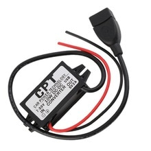 Wasserdicht DC 7-50 V Zu 5 V 2A USB Weibliche Step-Down Konverter Regler Für Auto Mit überlast über niederspannung schutz