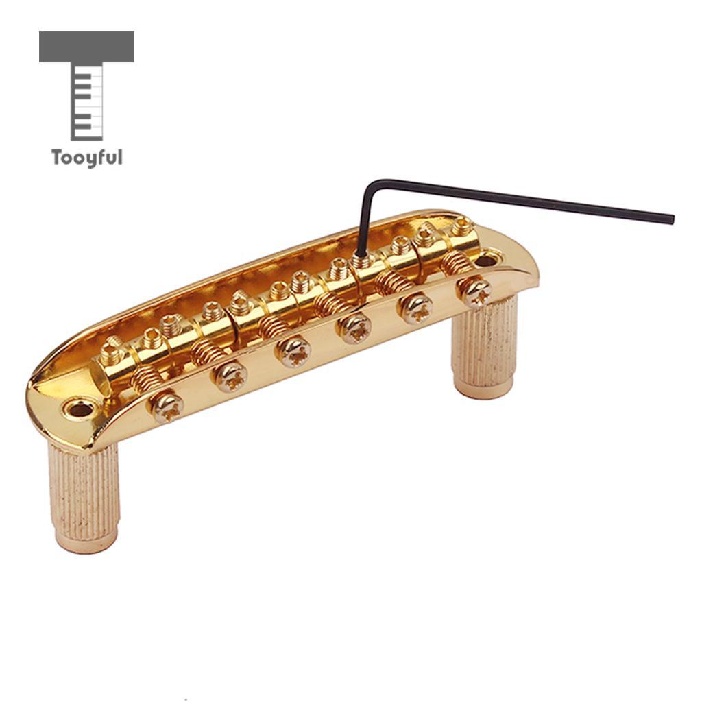 Puente de guitarra Tooyful con dedal y llave Allen para Jazzmaster Jaguar Mustang oro