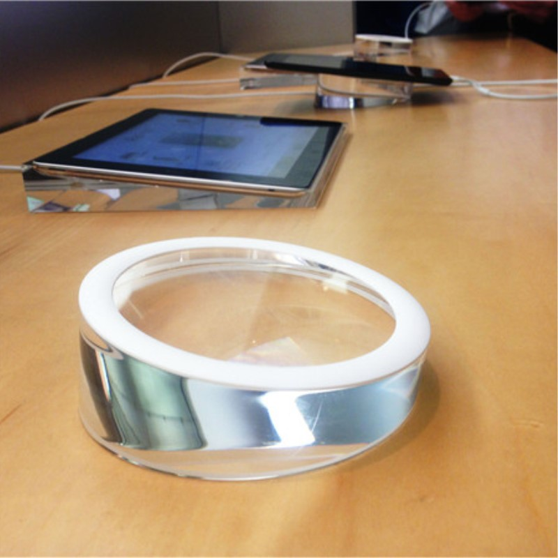(8 pcs/lot) diameter 10cm 12cm 15cm Crystal Solid Acrylic Round Universal Base For Ipad Tablet Desktop Display Holder enlarge