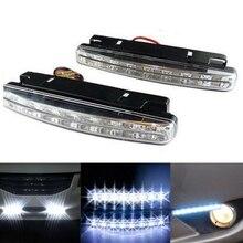 Phare antibrouillard Super 12V blanc   2 pièces, 8 LEDs, modes de jour de voiture, DRL, phare de jour de la conduite