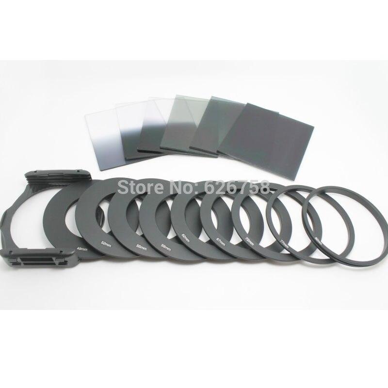 RISE (UK) 9 Uds anillo Adater + conjunto de filtros ND de densidad neutra + soporte cuadrado + capucha para Cokin P