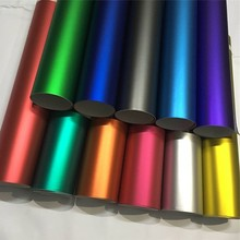 14 видов цветов красно-синяя Золотая зеленая фиолетовая Матовая атласная Хромовая виниловая пленка наклейка без пузырьков пленка для упаковки автомобиля